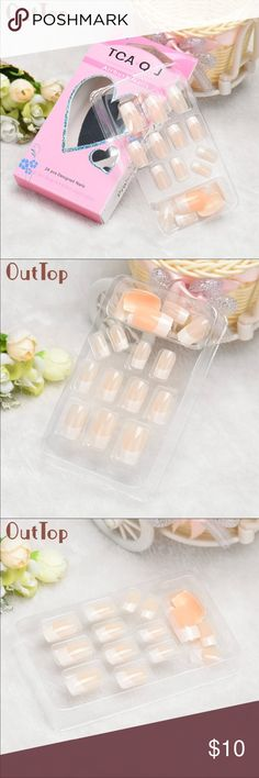 OutTop  24pc Full Nail French Tips 24 pc Other