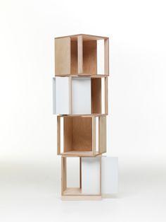 Librería composable modular de madera TWIN BOX Colección 2012 by Valsecchi 1918 | diseño Nicola De Ponti