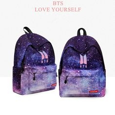 BTS Love Yourself k pop Women Bangtan boy school bags Hip-Hop Hoodies New bts backpack K-pop schoolbag gift for you 2018 Mochila Kpop, Mochila Do Bts, Hoodie Bts, Bts Shirt, Bts Backpack, Fashion Backpack, Camisa Bts, Bts Bag, Galaxy Shoes