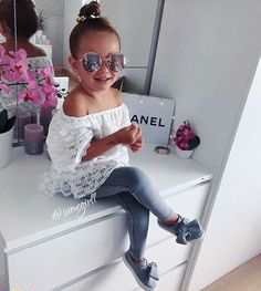 Oh my holy cuteness Little Girl Outfits, Toddler Girl Outfits, Little Girl Fashion, Kids Outfits, Cute Outfits, Cute Kids Fashion, Toddler Fashion, Little Fashionista, Cute Baby Girl