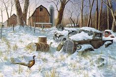 Homeward Bound By Jim Hansel Winter Children Print Signed and Numbered