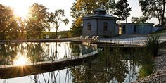 Chateau Mcely ( Prague, Czech Republic ) A spring-fed swimming lake and traditional sauna are at the heart of the fairytale gardens. Traditional Saunas, Small Luxury Hotels, Prague Czech Republic, Small Places, Holiday Time, Go Green, Hotel Reviews, Landscape Architecture, Countryside