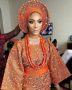 Inexpensive Wedding Venues In Nj Nigerian Wedding Dresses Traditional, Traditional Wedding Attire, African Traditional Dresses, Afro, Agbada Styles, Yoruba Wedding, African Fashion, African Beauty, Nigerian Fashion