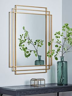 Brass Deco Mirror - Modern Home Furniture Fancy Mirrors, Hall Mirrors, Vintage Mirrors, Decorative Mirrors, Art Deco Spiegel, Spiegel Design, Dining Room Art, Living Room Mirrors, Hallway Mirror