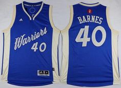 d5ac54ae4 Men s Golden State Warriors  40 Harrison Barnes Revolution 30 Swingman 2015  Christmas Day Blue Jersey