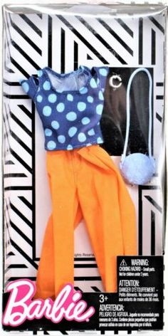 Barbie Complete LOOK Fashion Doll Outfit - Polka Dot Top and Peach Pants for sale online Peach Pants, Orange Pants, Vintage Barbie Clothes, Doll Clothes Barbie, Diva Light, Barbie Sets, Barbie Fashionista Dolls, Cute Baby Dolls, Kids Makeup
