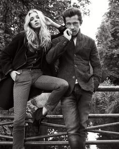 Roy Roger's Autumn Winter 2013-2014 campaign. Shot by photographer Philip Gay and featuring models Elsa Hosk and Werner Schreier