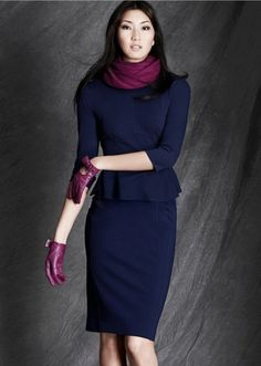 Navy and plum. Gorgeous for winter!