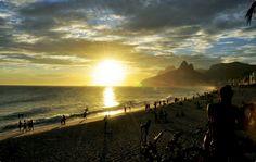 Puesta del Sol en la playa de Ipanema, Rio de Janeiro. Foto: Alexandre Macieira/Riotur.