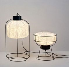 """Cage"" paper lights by Forestier"