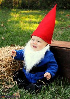 Little Garden Gnome - homemade costume for babies