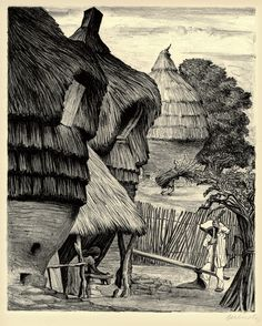 Grinding Maize, Cuautla (from: Mexican Art - A Portfolio of  Mexican People and Places), 1945, by Leopoldo Mendez (1902-1969)  lithograph