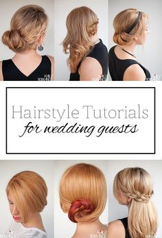 Top 5 hairstyle tutorials for wedding guests
