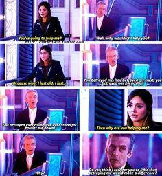 The Doctor would do anything for Clara. But wasn't that always the point? He would go to hell for her if she asked him to.
