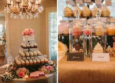 Chicago to Cedarwood :: cupcake wedding cake!