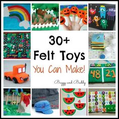 30+ Homemade Felt Toy Ideas