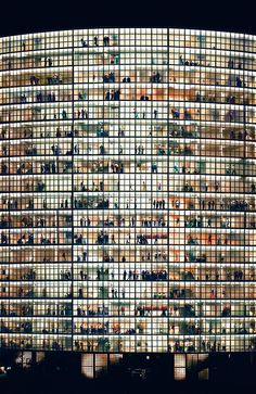"Andreas Gursky  - In 2001, Tomkins described the experience of confronting one of Gursky's large works: ""The first time I saw photographs by Andreas Gursky…I had the disorienting sensation that something was happening—happening to me, I suppose, although it felt more generalized than that. Gursky's huge, panoramic color prints—some of them up to six feet high by ten feet long—had the presence, the formal power, and in several cases the majestic aura of nineteenth-century landscape paintings,"