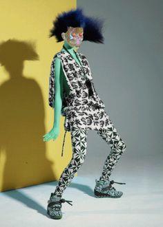 REally?! Surreal Neon Fashion GIFS