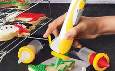 If you love baking but don't have the steadiest of hands when it comes to decorating, then you will love this Frosting Decorating Pen by Kuhn.