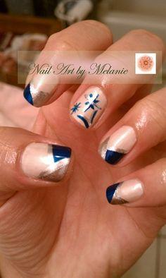 Blue Christmas with snowflakes! by MellaBella - Nail Art Gallery nailartgallery.nailsmag.com by Nails Magazine www.nailsmag.com #nailart