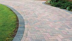 brindle omega driveway - Google Search Driveway Blocks, Paver Patterns, Paving Ideas, Garden Paving, Block Paving, House Plans, Sidewalk, Landscape, Omega