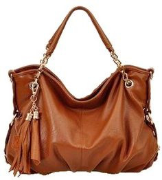Soft Leather Slouched Tasseled Multi-Strap Shoulder « Clothing Impulse