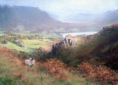 Light over Grasmere, Cumbria, Acrylic painting, (size?), Joe Hush