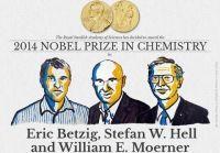 Nobla 2014 z chemii otrzymali Eric Betzig i William E. Moerner z USA oraz Niemiec Stefan W. Hell, którzy opracowali metodę mikroskopii fluorescencyjnej wysokiej rozdzielczości;