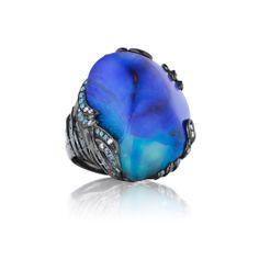 Mimi So: ZoZo Boulder Opal Ring
