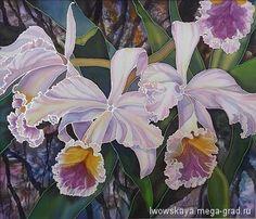 Орхидея - батик, картины с цветами. МегаГрад - авторская ручная работа