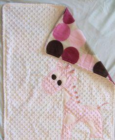 Minky Giraffe Blanket