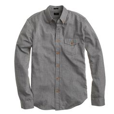 J.Crew - Slim brushed twill shirt in heather grey