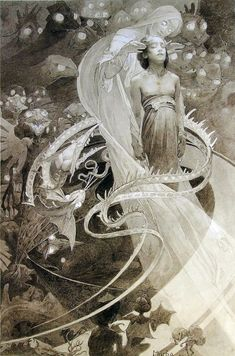 Alphonse Mucha Le Pater. This absolutely had me staring at it for at least 5 minutes