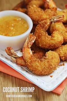 Coconut Shrimp -- seriously, these are easier to make than I thought and so addictive! Great party food too.