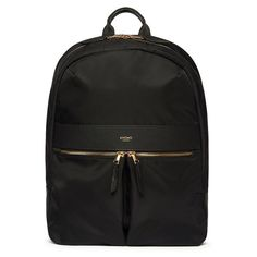 """Beauchamp Laptop Backpack - 14"""" - Black / Gold Hardware  