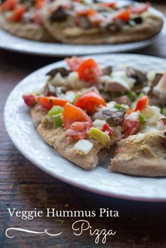 I am a HUGE pizza fan. Try this veggie hummus pita pizza recipe for a healthy way to get your pizza fix and have an easy, yummy meal.