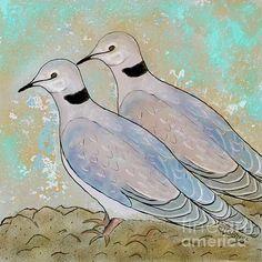 Cape Turtle Dove. #Digital drawing by Caroline Street. #dove #birdart