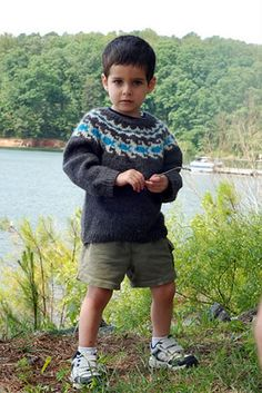 Free Knitting Pattern - Toddler & Children's Clothes: Beach Baby Pullover