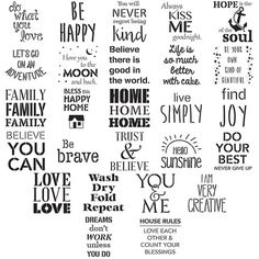 """Shop Plaid FolkArt ® Stencil Value Packs - Phrases, 12"""" x 12"""" - 31564E - 31564E 