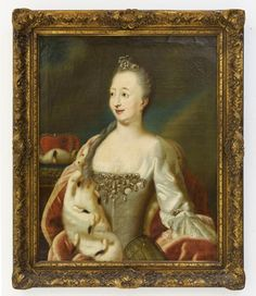 ANONYMOUS , (Late 18th century), Catherine the Great, Oil on canvas, H 33 x W 26 inches