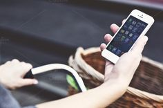 iPhone 5 with a bike photo ~ Technology Photos on Creative Market