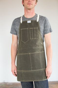 Waxed canvas apron