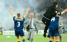 Champions League 1996. Gianluca Pessotto + Marcello Lippi. Juventus.