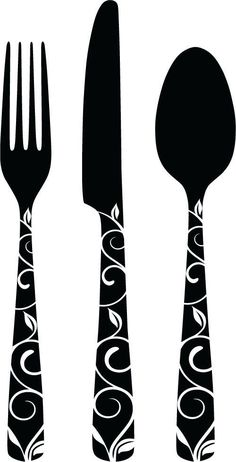 fork knife silhouette - Google Search