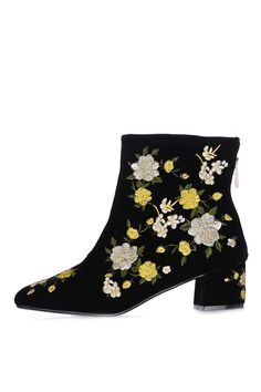 BLOSSOM Embroidered Boots - Shoes- Topshop Europe