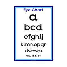 Eye Chart  Opticians Role Play  Free Eyfs  Ks Resources For