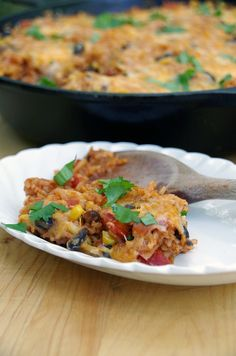 Need another Meatless Monday meal idea? Here's a recipe from @DianeHoffmaster for a Cheesy Enchilada Rice Bake that's sure to please.