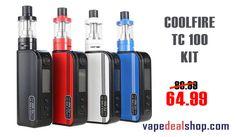 Cool fire tc 100 isub v starter kit - vapedealshop.com