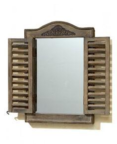 Oglindă tip fereastră din lemn de brad 31x45 cm