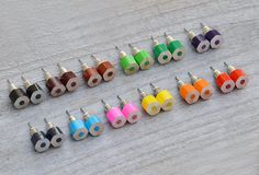 Hey, I found this really awesome Etsy listing at https://www.etsy.com/listing/76287836/color-pencil-ear-studs-the-hexagon